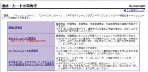 みずほ銀行キャッシュカード再発行3